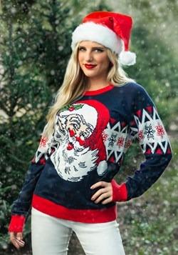 Adult Vintage Santa Ugly Christmas Sweater Alt 2