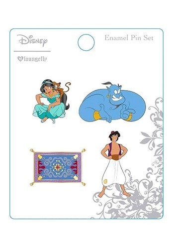 Loungefly Disney's Aladdin 4 Pack Enamel Pin Set