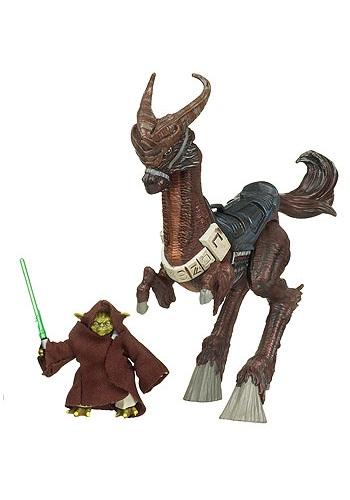 Saga Legends Yoda and Kybuck Action Figures