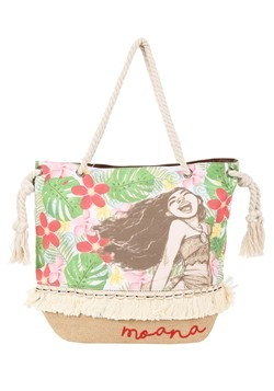 Loungefly Moana Canvas and Burlap Tote Bag
