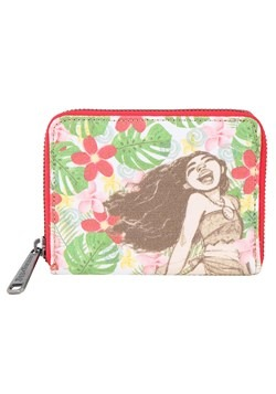 Loungefly Moana Canvas and Burlap Mini Wallet upd