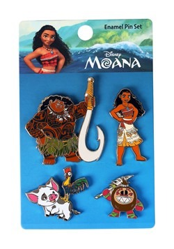 Loungefly Disney's Moana 4 Pack Enamel Pin Set