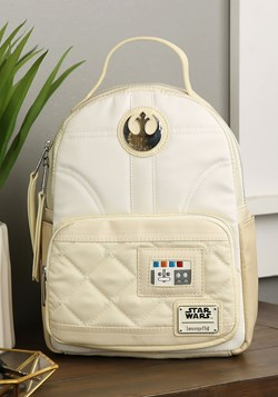 Loungefly Faux Leather Star Wars Hoth Leia Mini Backpack upd