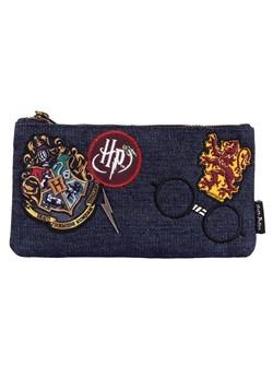 Loungefly Harry Potter Hogwarts Blue Denim Pouch