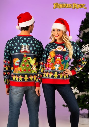 Adult Fraggle Rock Sublimated Ugly Christmas Sweater
