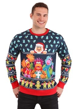 Adult Fraggle Rock Sublimated Ugly Christmas Sweater Alt 3