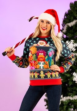 Adult Fraggle Rock Sublimated Ugly Christmas Sweater up1