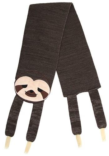 Knit Scarf Sleepy Sloth