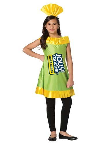 Jolly Rancher Girl's Apple Jolly Rancher Costume