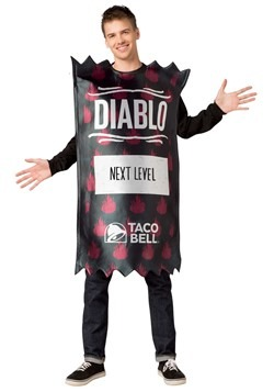 Taco Bell Adult Diablo Taco Bell Sauce Packet Costume