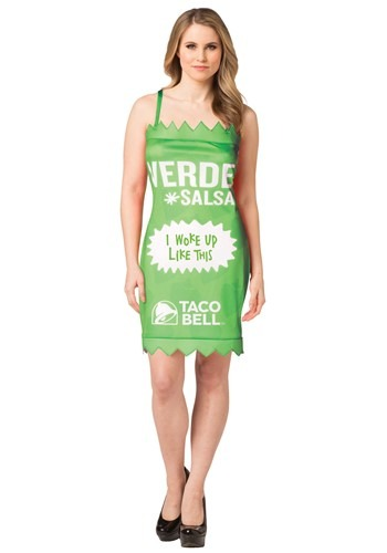 Taco Bell Womens Verde Taco Bell Sauce Packet Costume