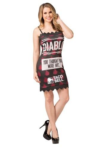 Women's Diablo Taco Bell Sauce Packet Costume