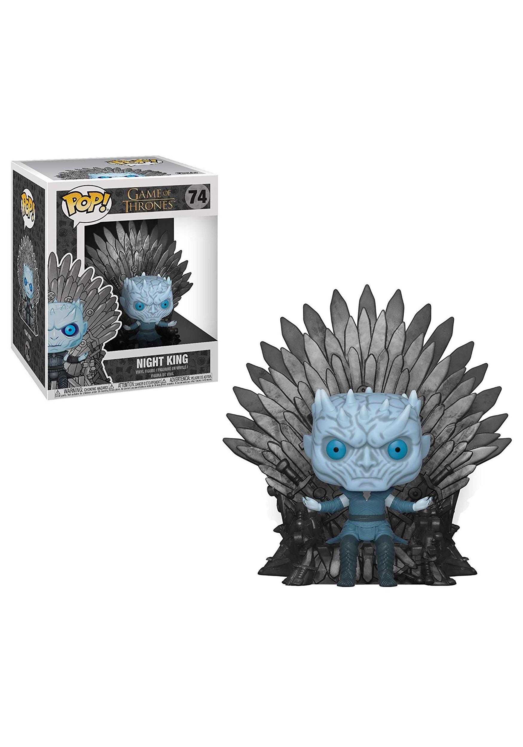 Night King on Iron Throne Deluxe Pop Vinyl Figure Game of Thrones
