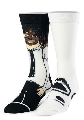 Adult WWE Mankind & Socko Premium Knit Socks from Odd Sox