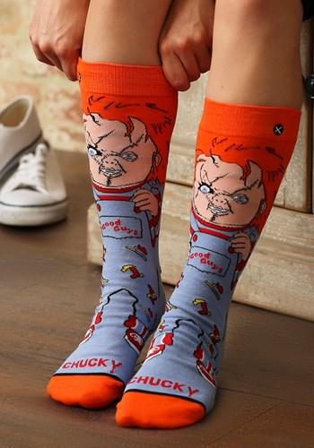 Adult Chucky Good Guy 360 Premium Knit Socks from Odd Sox
