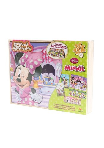 Minnie Mouse Wood Puzzle 5 Pack