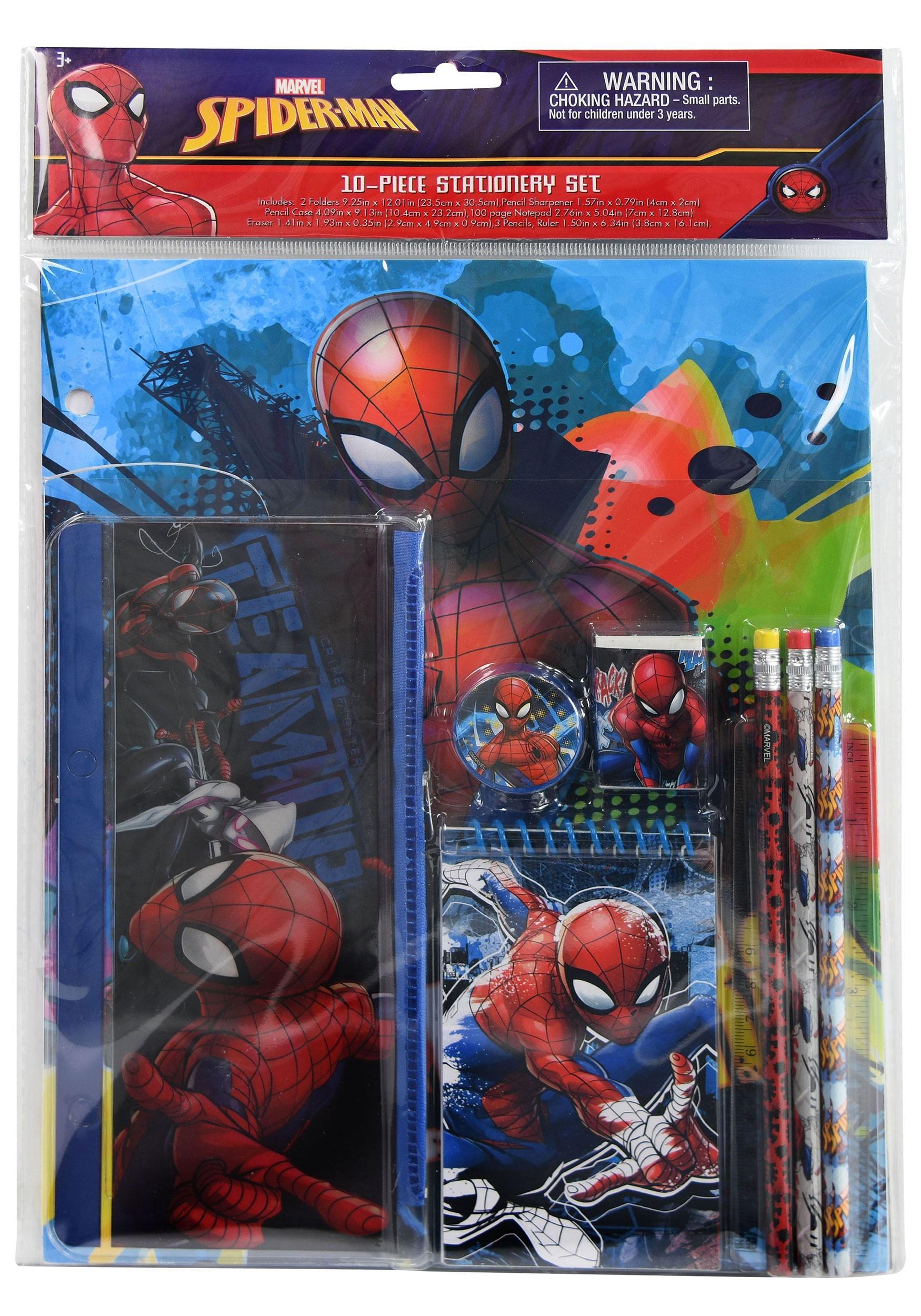 10 Piece Spider-Man Kids Stationery Set