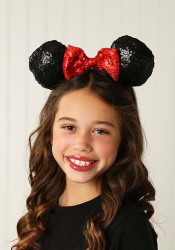 Minnie Mouse Sequin Ears Sequin Bow Update