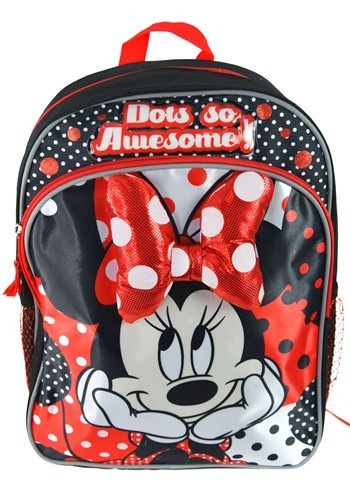 "Minnie Mouse 14"" Backpack w/ Soft Sculpted Bow"