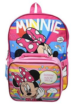 "Minnie Mouse 16"" Backpack Lunch Bag"
