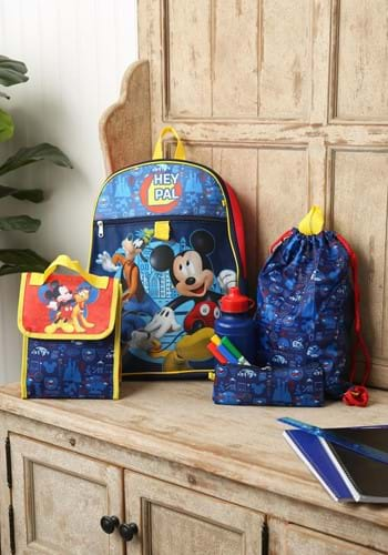 Mickey Mouse 5 Piece Backpack Set