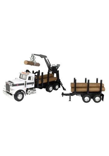 Peterbilt 1:16 Model 367 Log Truck w/ Prop Trailer