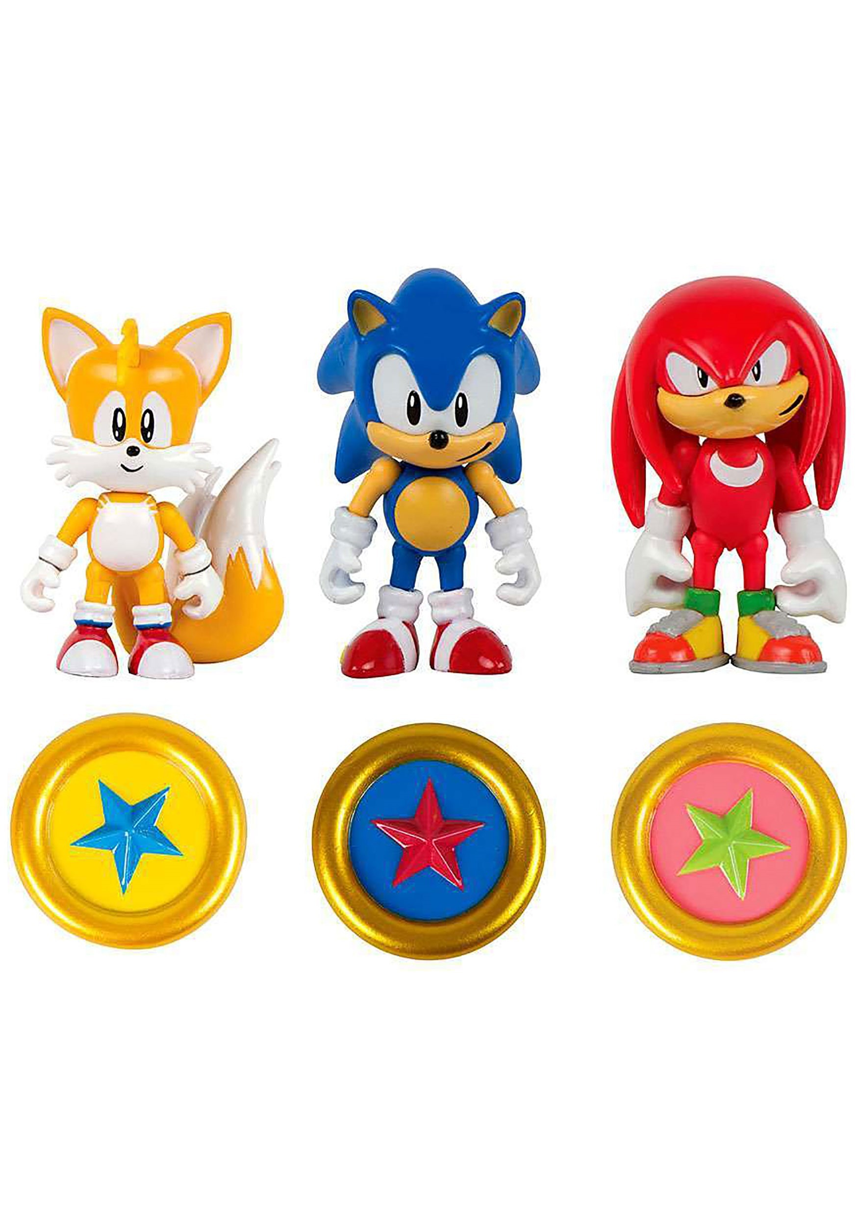 Sonic the hedgehog 3 figure 3 pack with rings