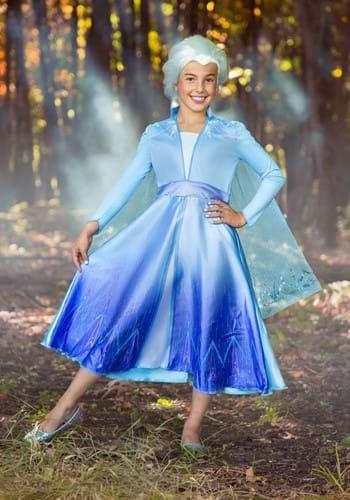 Deluxe Frozen 2 Girls Elsa Costume