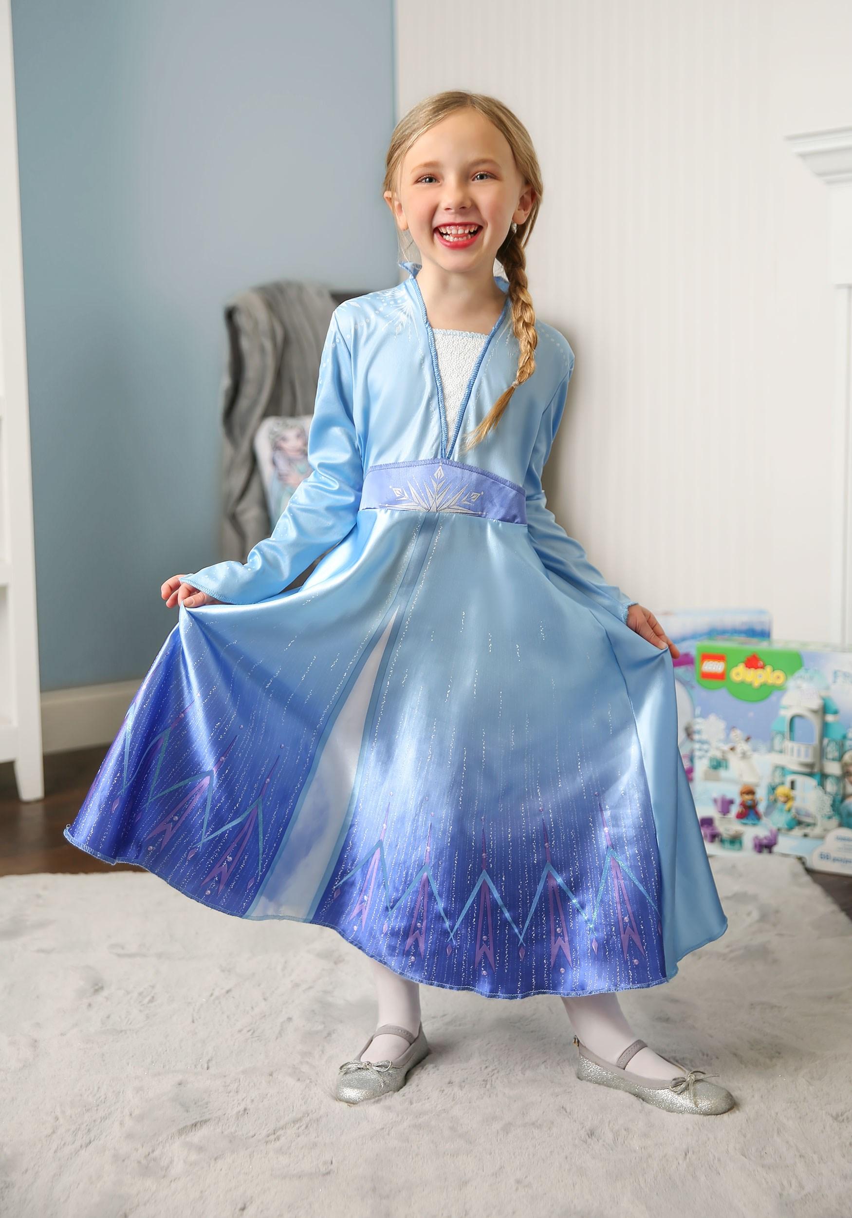 Deluxe Disney Frozen 2 Elsa Costume For Girls