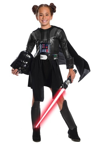 Girls Star Wars Deluxe Darth Vader Costume Dress