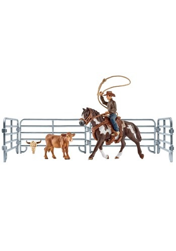 Team Roping Cowboy Playset