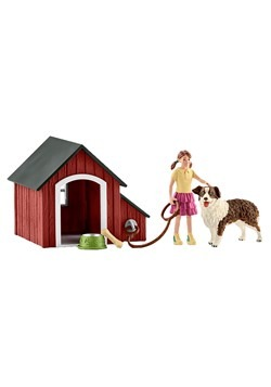Dog Kennel Figure Set