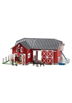 Large Red Barn w/ Animals & Accessories Play Set