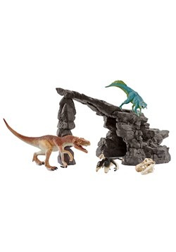 Dino Figure Set w/ Cave