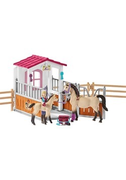 Horse Stall w/ Arab Horses Playset