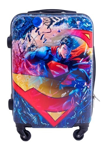 Hardcase Luggage Superman Printed