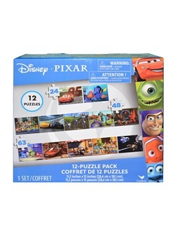Disney Pixar 12 Piece Puzzle Pack