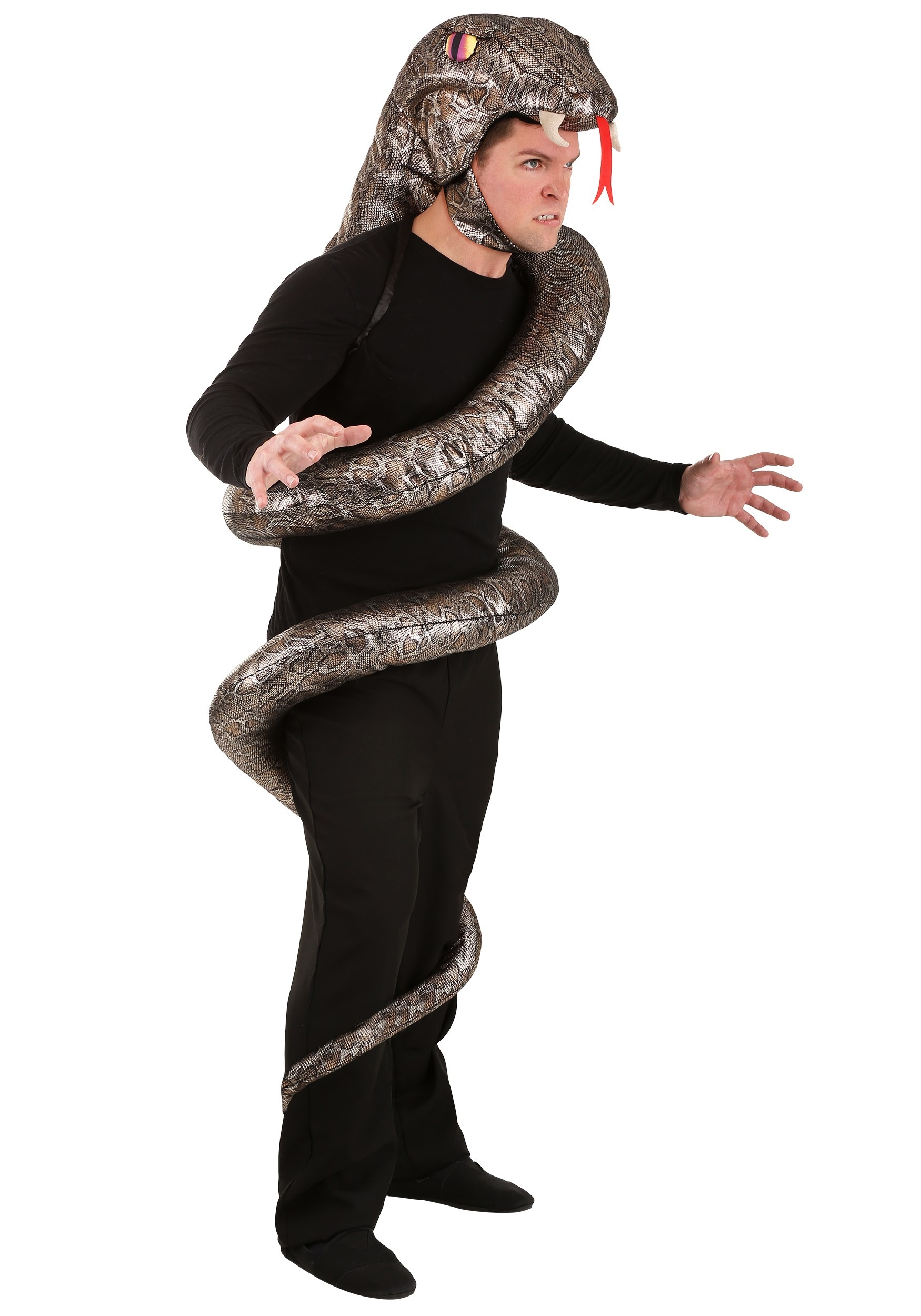 Adults slither snake costume