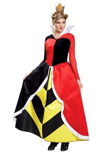 Women's Alice in Wonderland Queen of Hearts Deluxe Costume