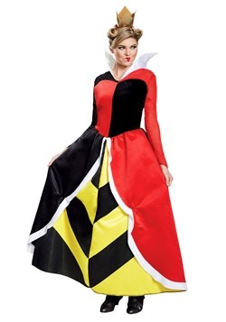 Women's Alice in Wonderland Queen of Hearts Deluxe Costume