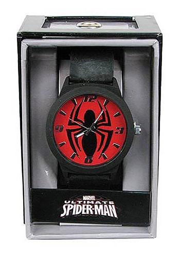 Spider Man Emblem Strap Watch for Men