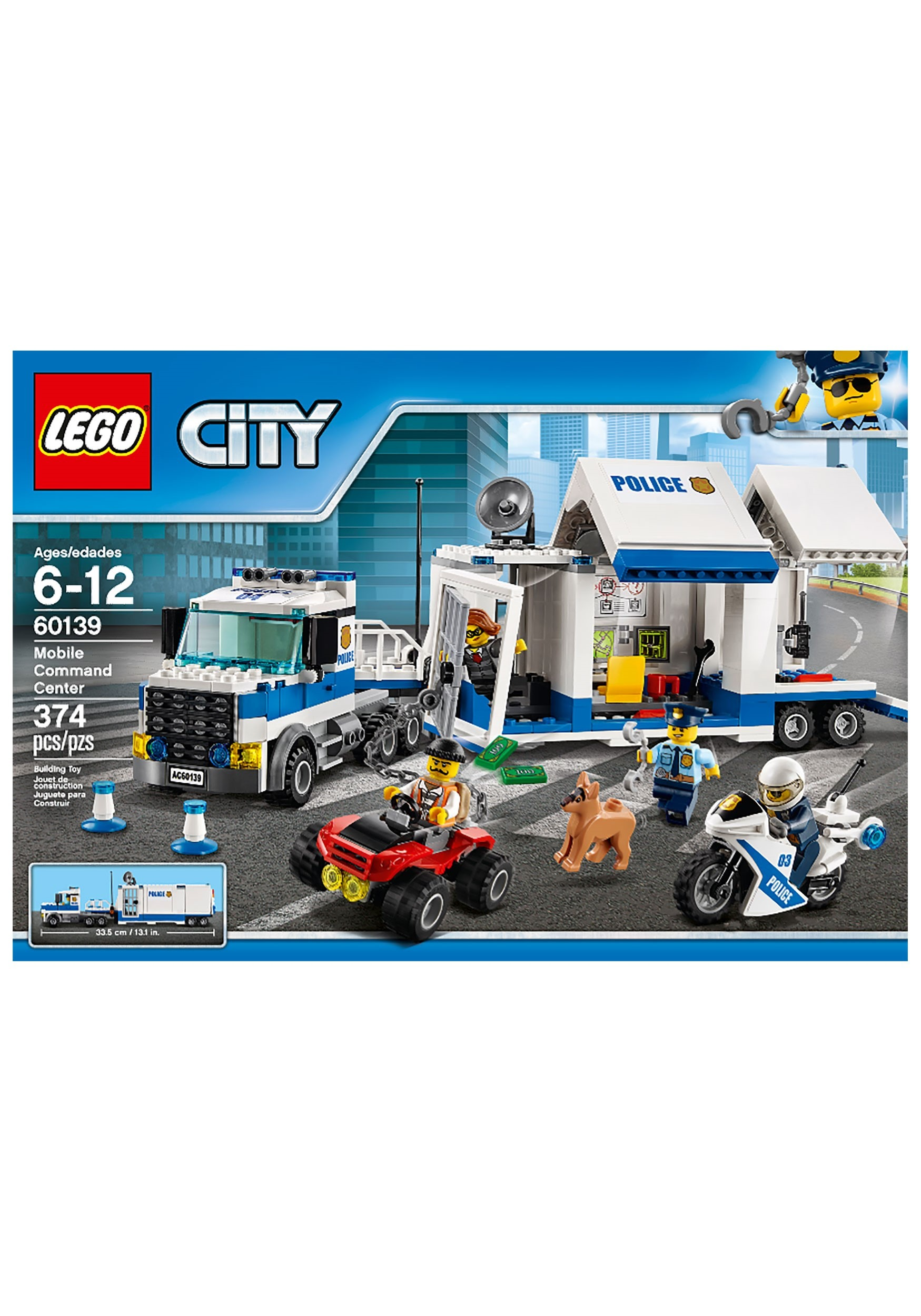 Police Mobile Command Center Lego City Building Set