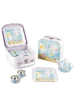 Mermaid 7pc Tin Tea Set in Case