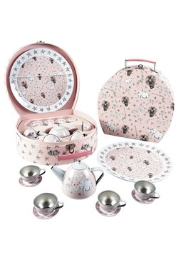 Party Animal 11pc Tin Tea Set in Round Case