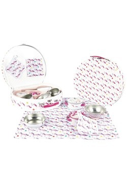 Unicorn 8pc Tin Kitchen Set in Round Case