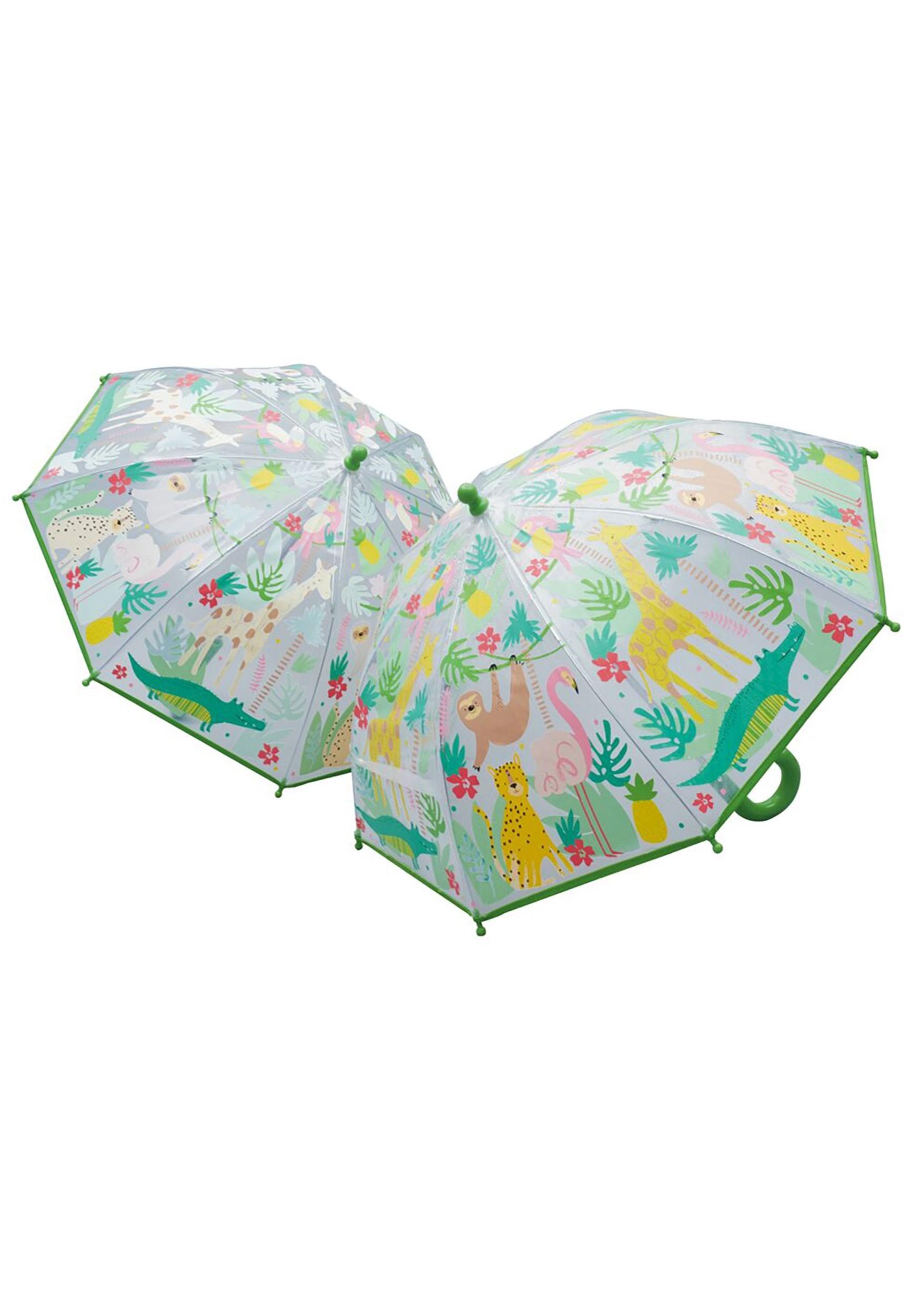 Color Changing Jungle Animals Umbrella