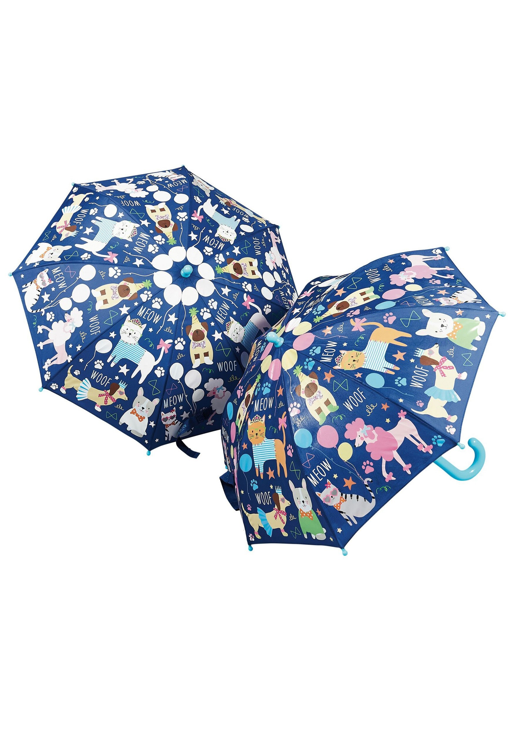 (Dogs and Cats) Pets Print Color Changing Umbrella