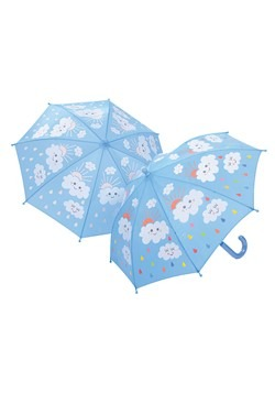 Raindrops and Color Changing Clouds Umbrella
