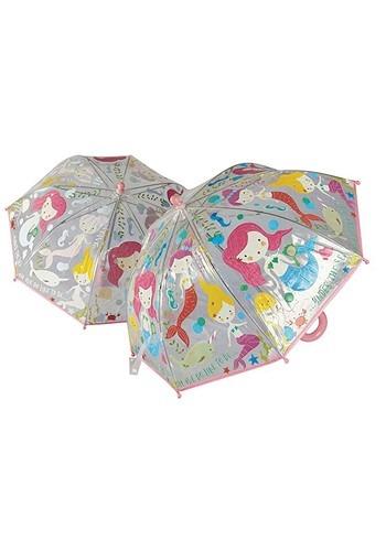 Mermaid Transparent Color Changing Umbrella
