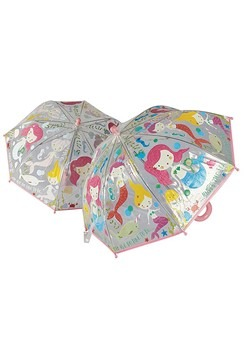 Mermaid Transparent Color Changing Umbrella